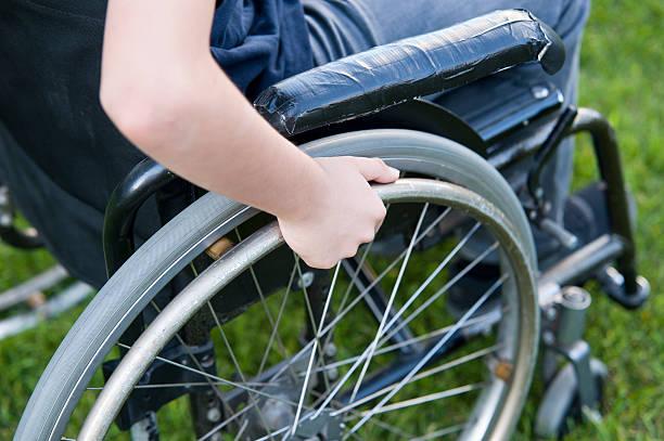 Wheelchair close up stock photo