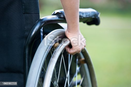 istock Wheelchair close up 186590203
