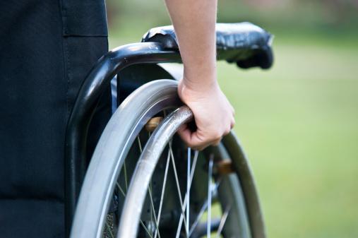 istock Wheelchair close up 186590203