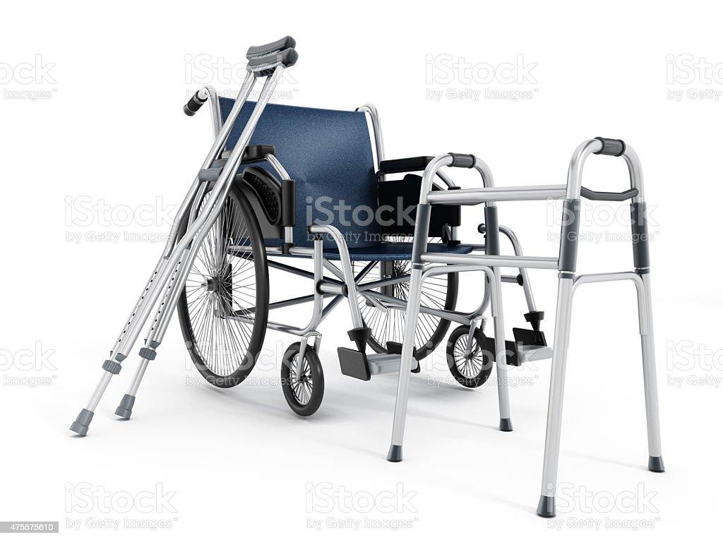 Rollstuhl, Krücken und walker – Foto