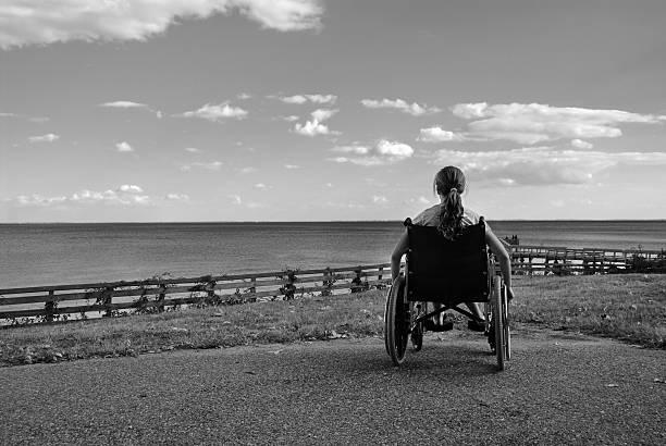 Wheelchair Dreams stock photo