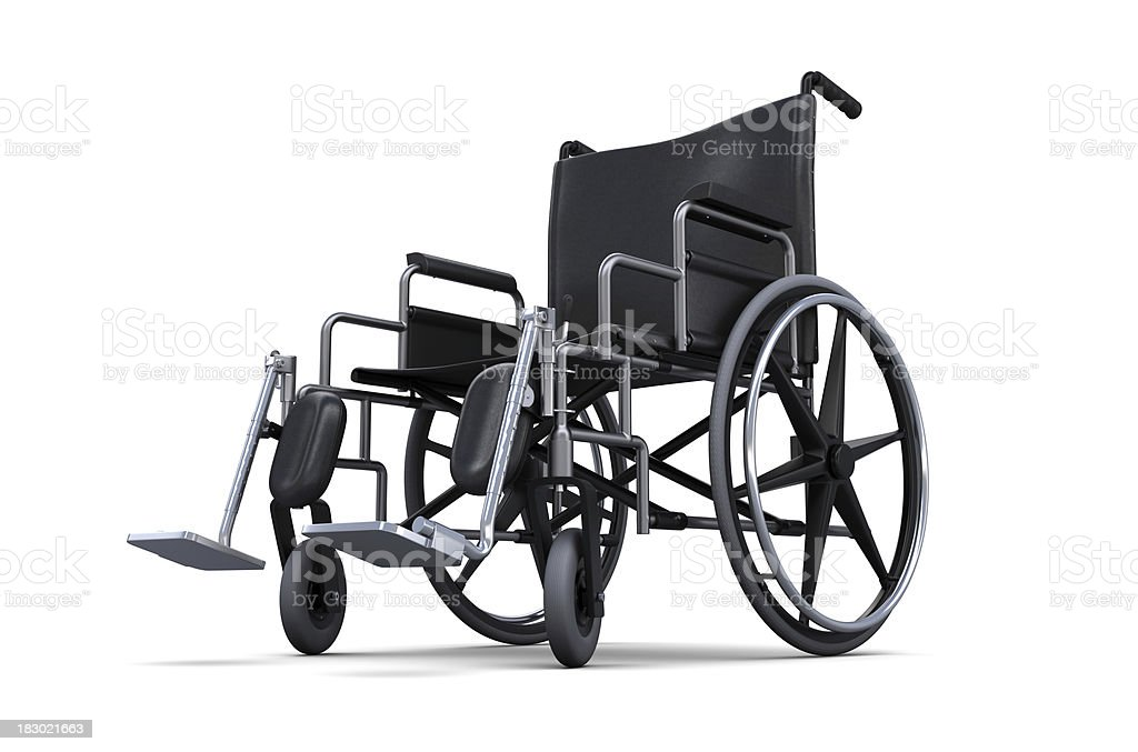 Wheelchair from a low angle stock photo