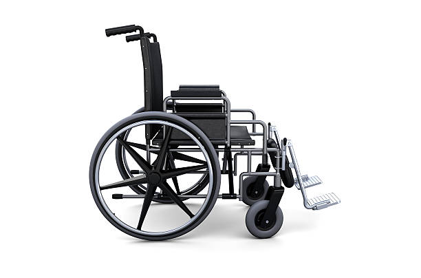Wheelchair from a side view stock photo