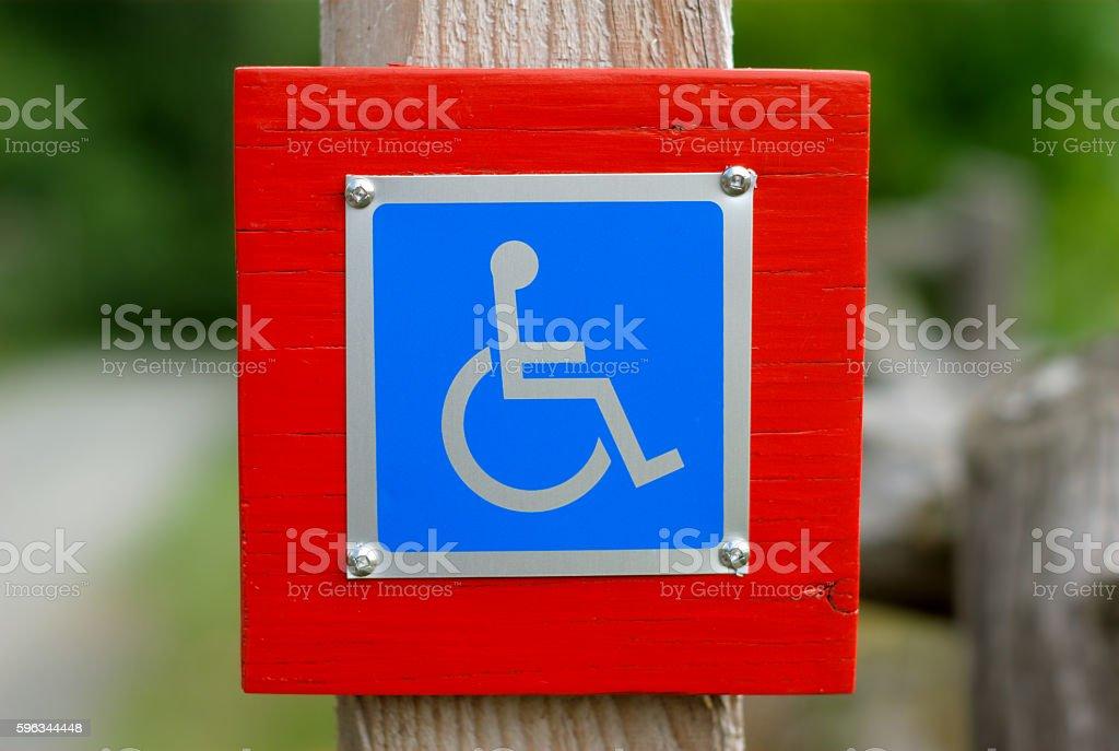 wheelchair handicap sign disabled blue symbol Lizenzfreies stock-foto