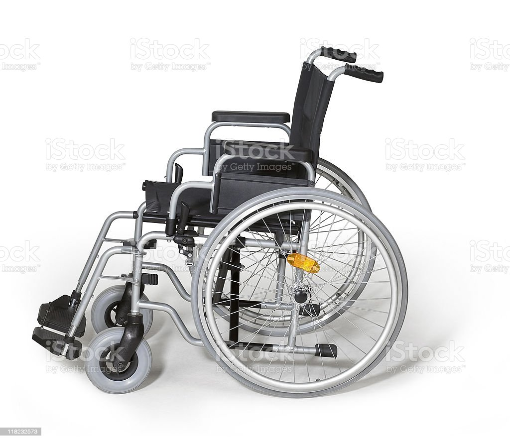 wheelchair in white back royalty-free stock photo