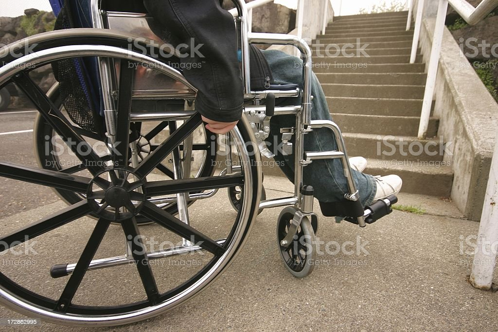 Wheelchair Inaccessable Stairs royalty-free stock photo