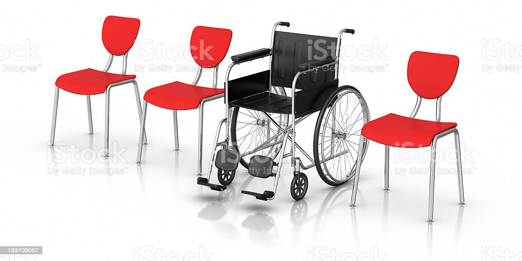 Wheelchair -  Individuality Concept royalty-free stock photo