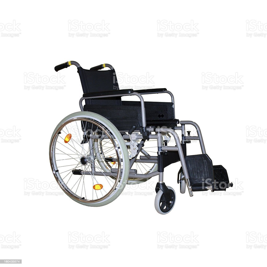 wheelchair isolated royalty-free stock photo