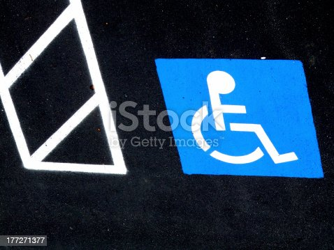 Parking space reserved for those with disabilities.