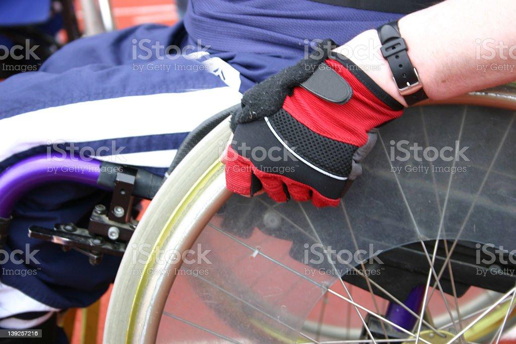 車椅子競争 3 ストックフォト