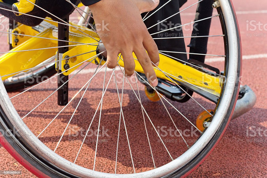 wheelchair race - foto de acervo