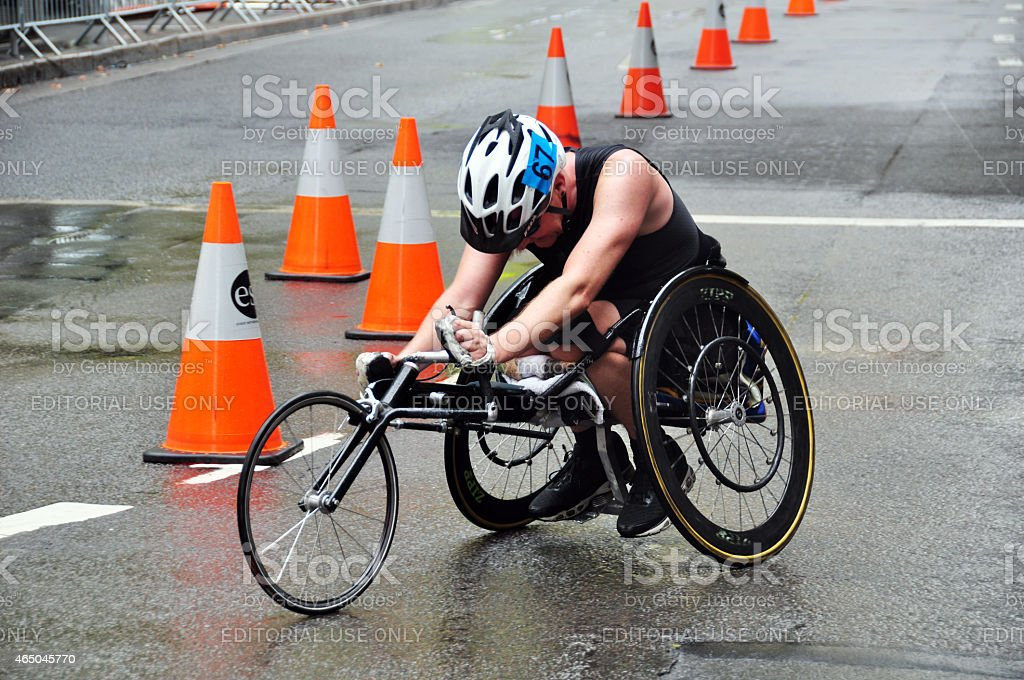 Wheelchair racing at Sydney stock photo