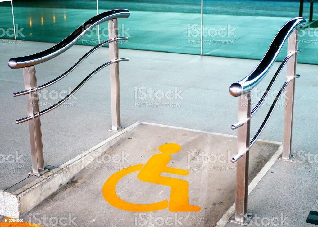 Wheelchair ramp way stock photo