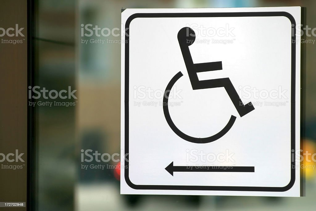 wheelchair sign royalty-free stock photo
