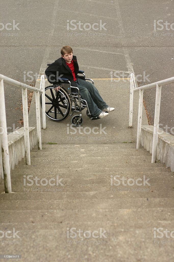 Wheelchair Stairs royalty-free stock photo