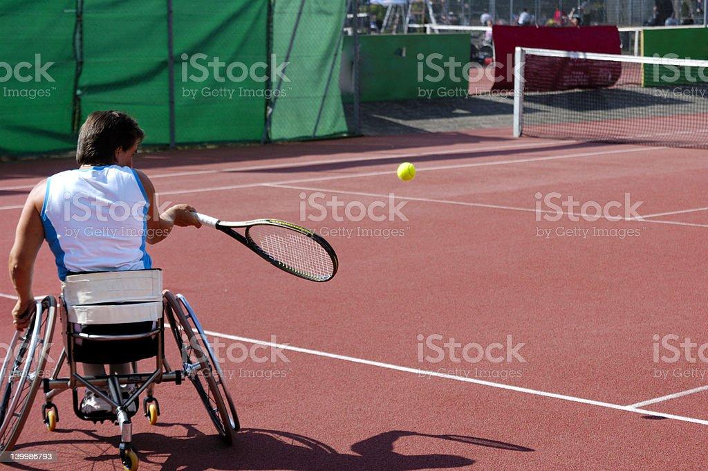 車いすのテニスプレーヤー ストックフォト