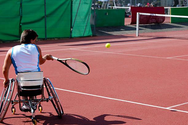 Rollstuhl tennis player – Foto