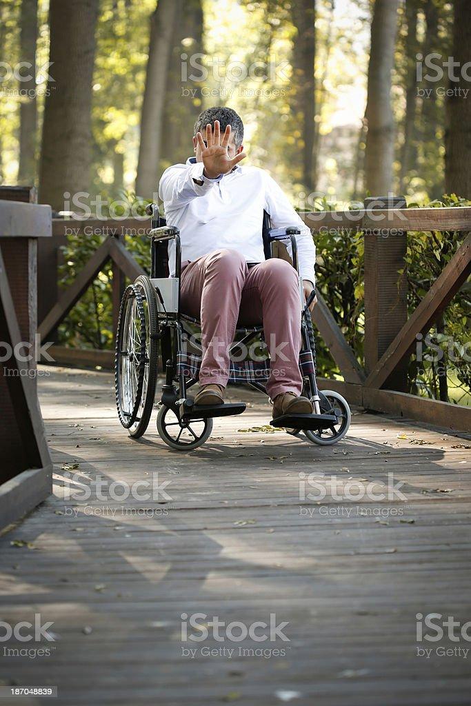 Wheelchair user royalty-free stock photo