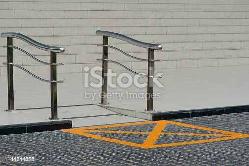 666724598 istock photo Wheelchair way access in building 1144844828