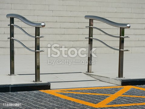 666724598 istock photo Wheelchair way access in building 1144844891