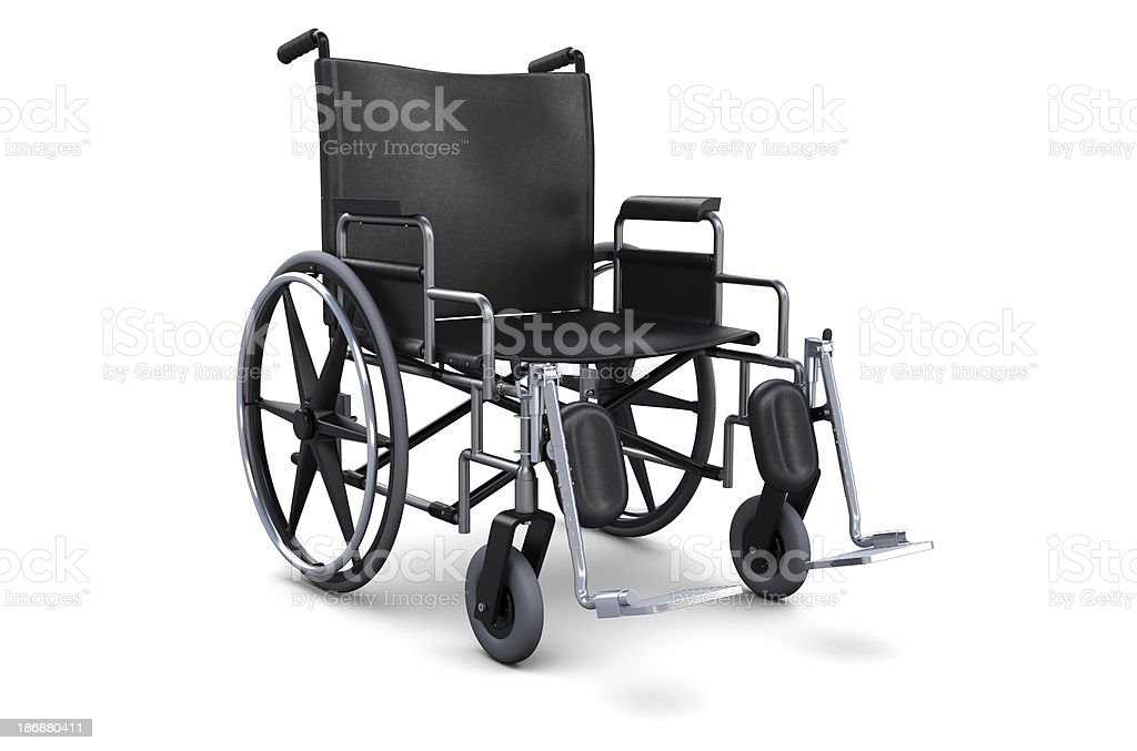 Wheelchair with Black Seating. stock photo
