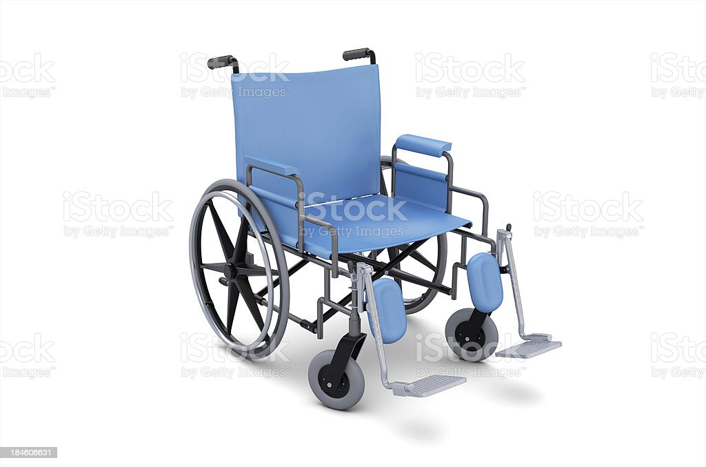 Wheelchair with Blue Seating. stock photo