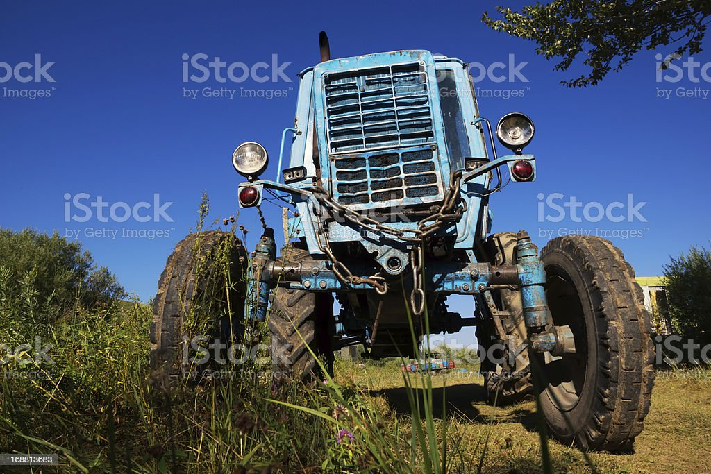 Wheeled agricultural tractor royalty-free stock photo