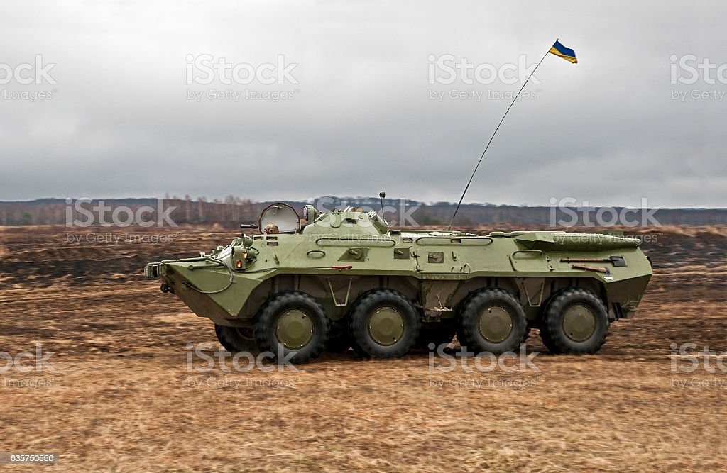 wheeled armored personnel carrier stock photo