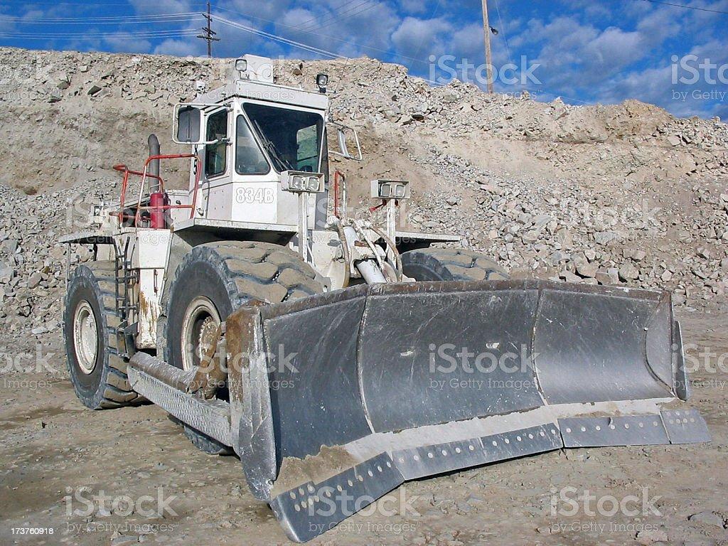 Wheeled Bulldozer stock photo