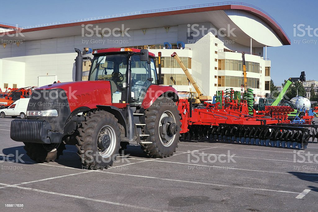Wheeled modern tractor royalty-free stock photo