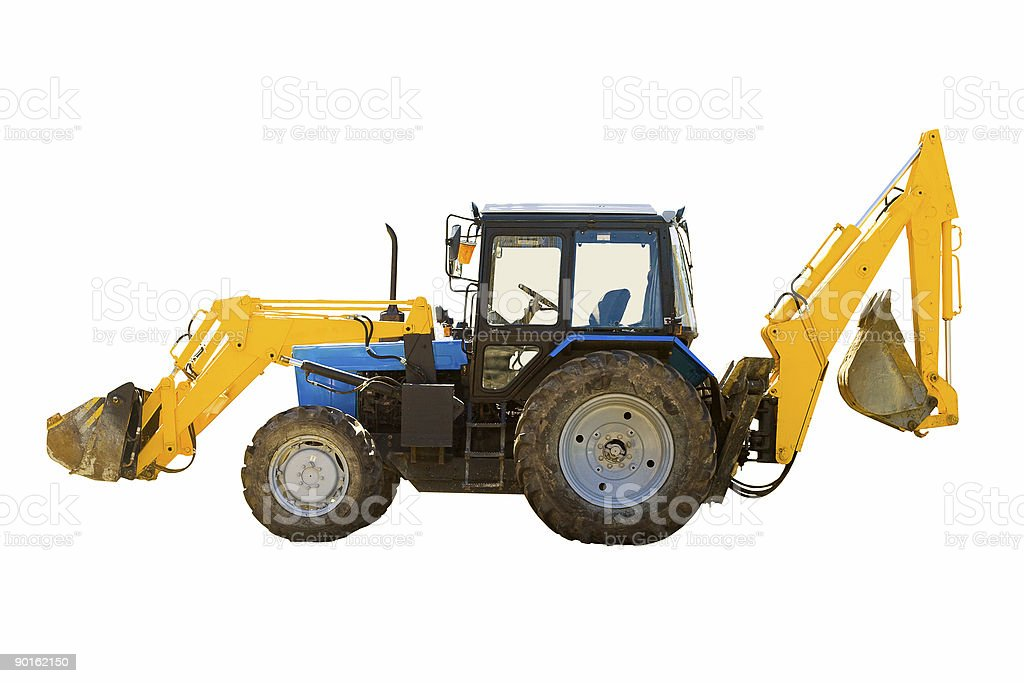 wheeled tractor royalty-free stock photo