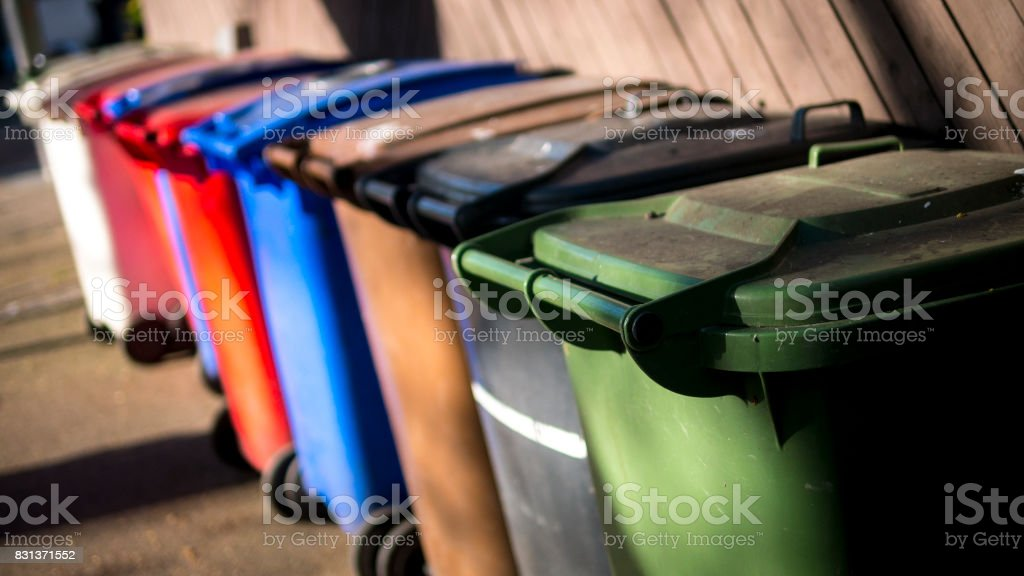 Wheelie Bins stock photo