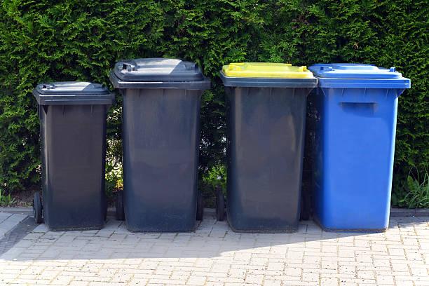 wheelie bins - Stock Image stock photo