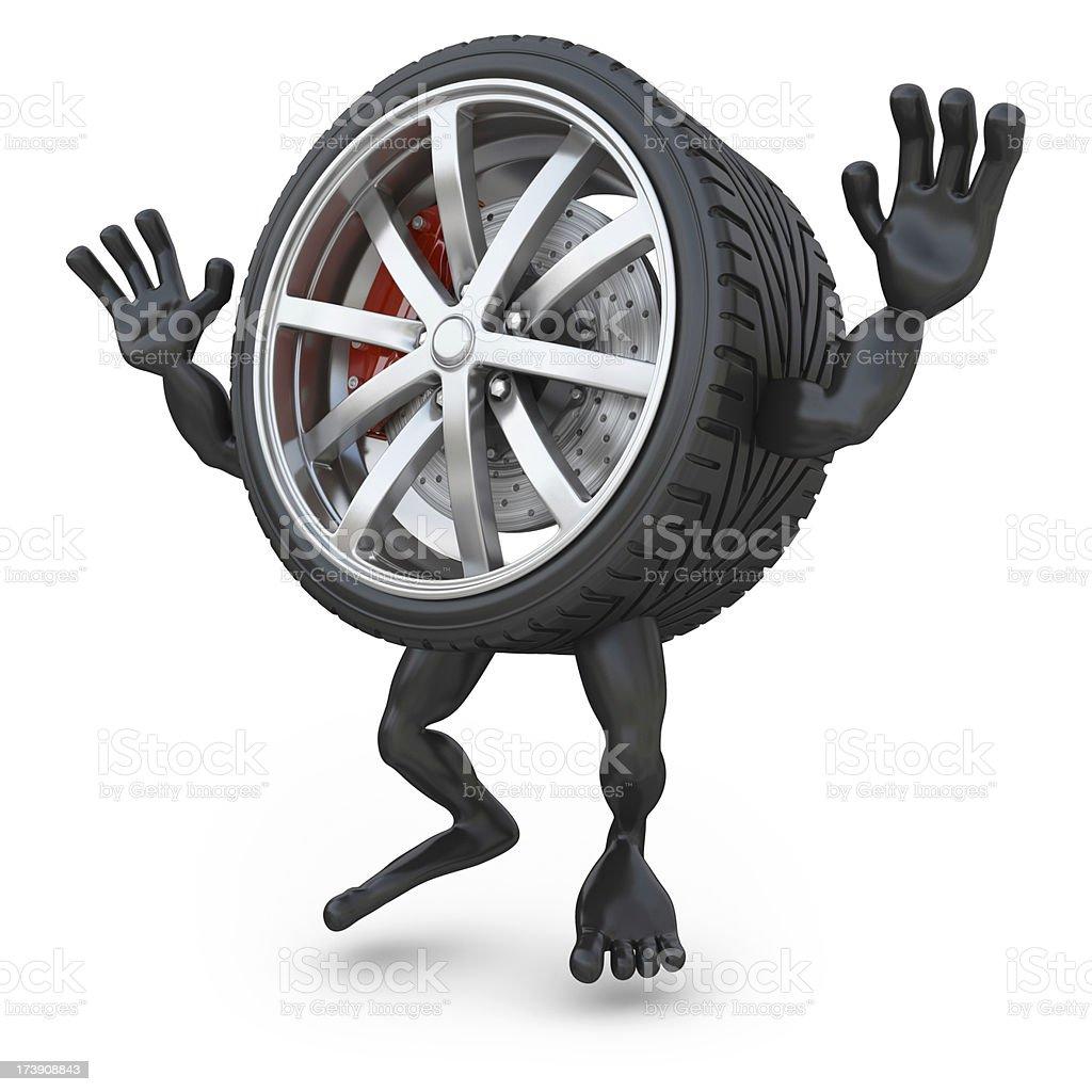 wheelman jumping royalty-free stock photo