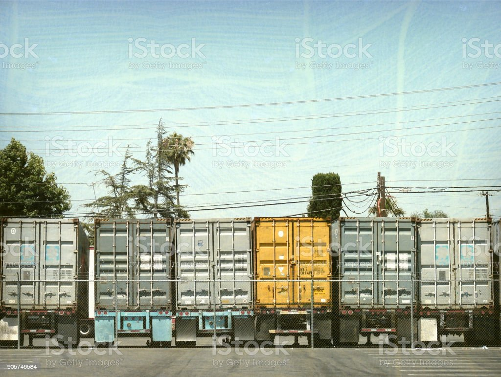 18 wheelr trucks stock photo