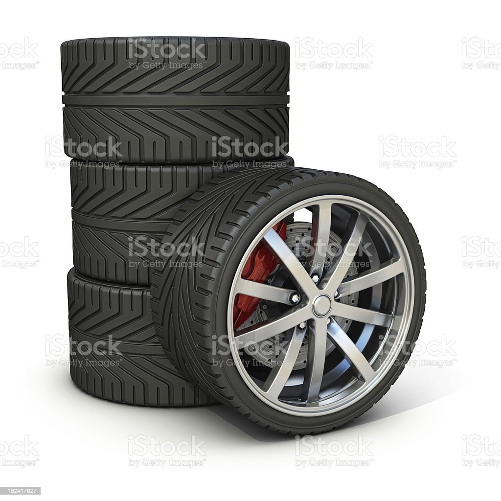 wheels and tires royalty-free stock photo