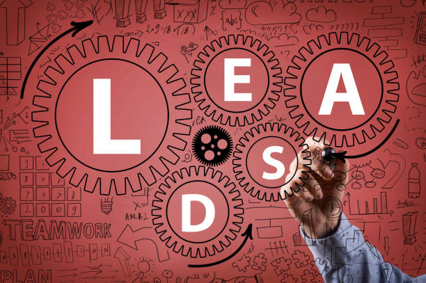 LEADS / Wheels concept red background (Click for more) stock photo