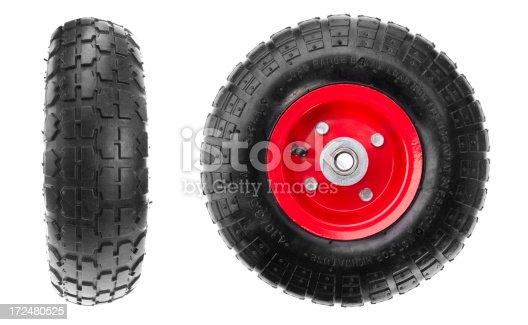 wheels on white background
