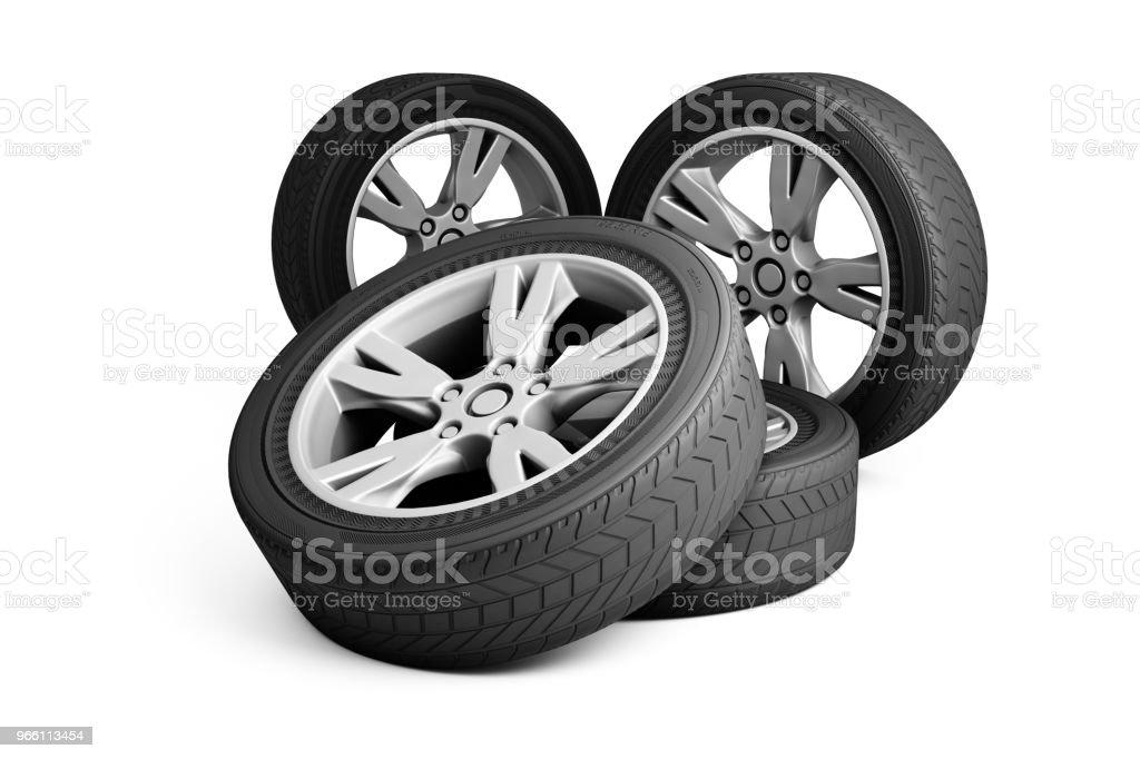 Las ruedas - Foto de stock de Fila - Arreglo libre de derechos