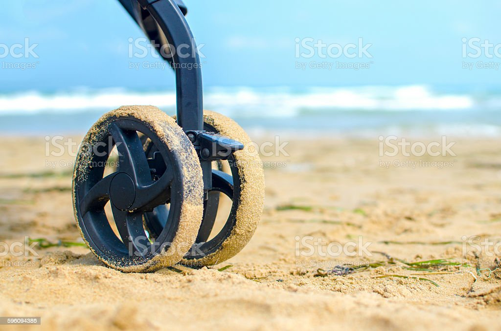 wheels stroller beach royalty-free stock photo