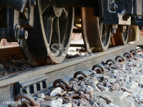 Train - Vehicle, Railroad Car, Wheel, Close-up, Locomotive
