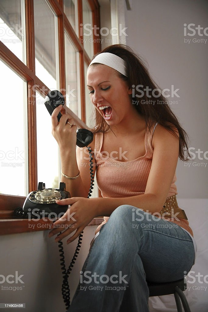 When A Telemarketer Calls... royalty-free stock photo