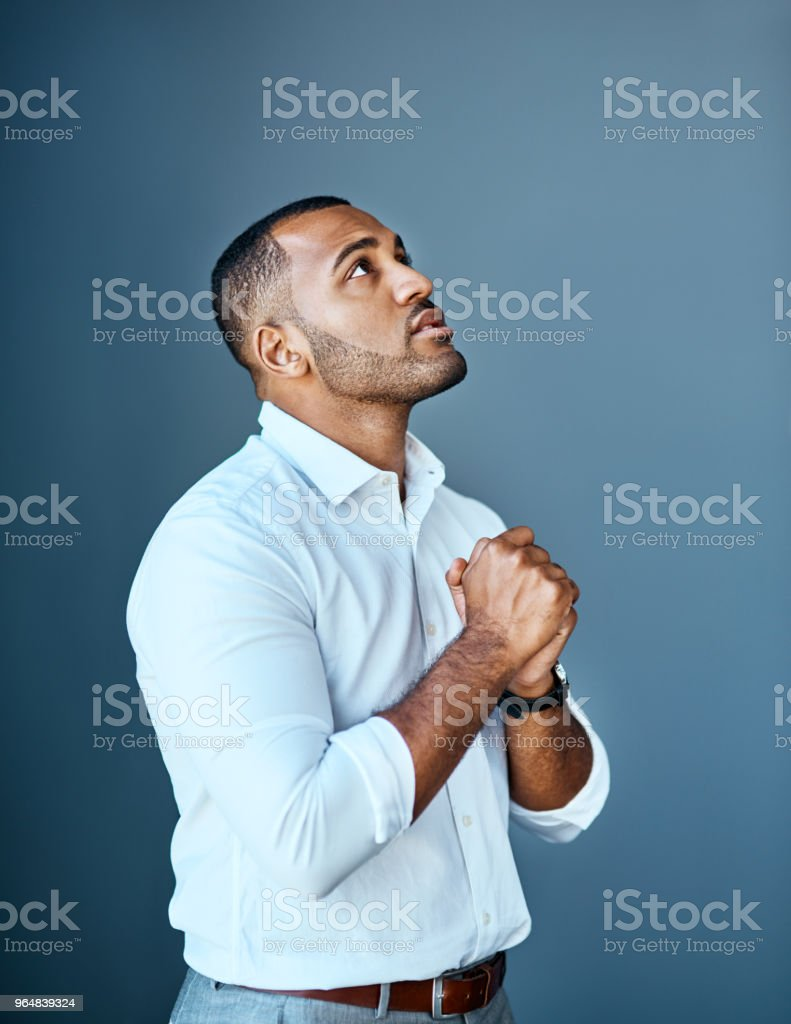 When business looks down, start looking up stock photo