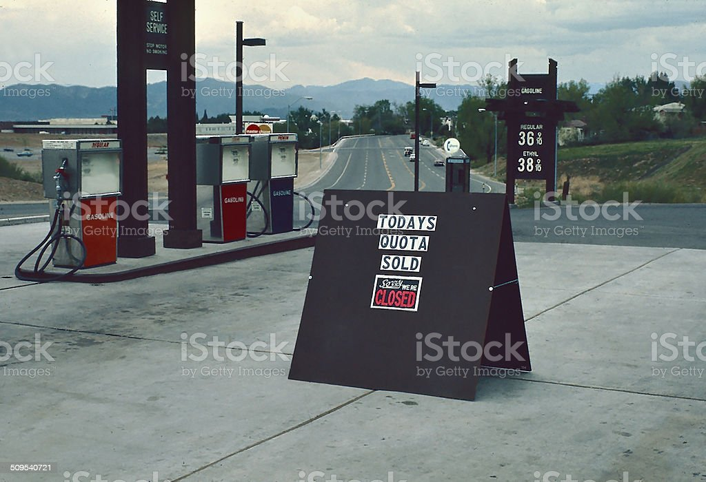 When gasoline was affordable stock photo