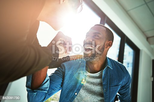 istock When hard work becomes success 642091730