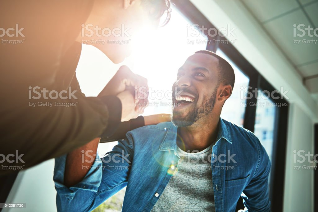 When hard work becomes success stock photo