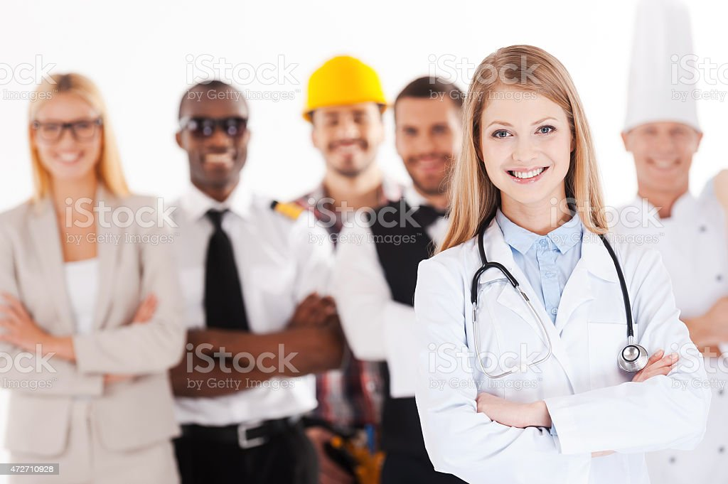 When I grow up I will be a doctor. stock photo
