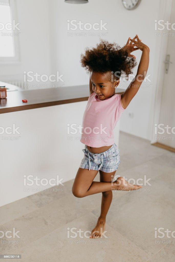 When I grow up I'll be a ballerina stock photo