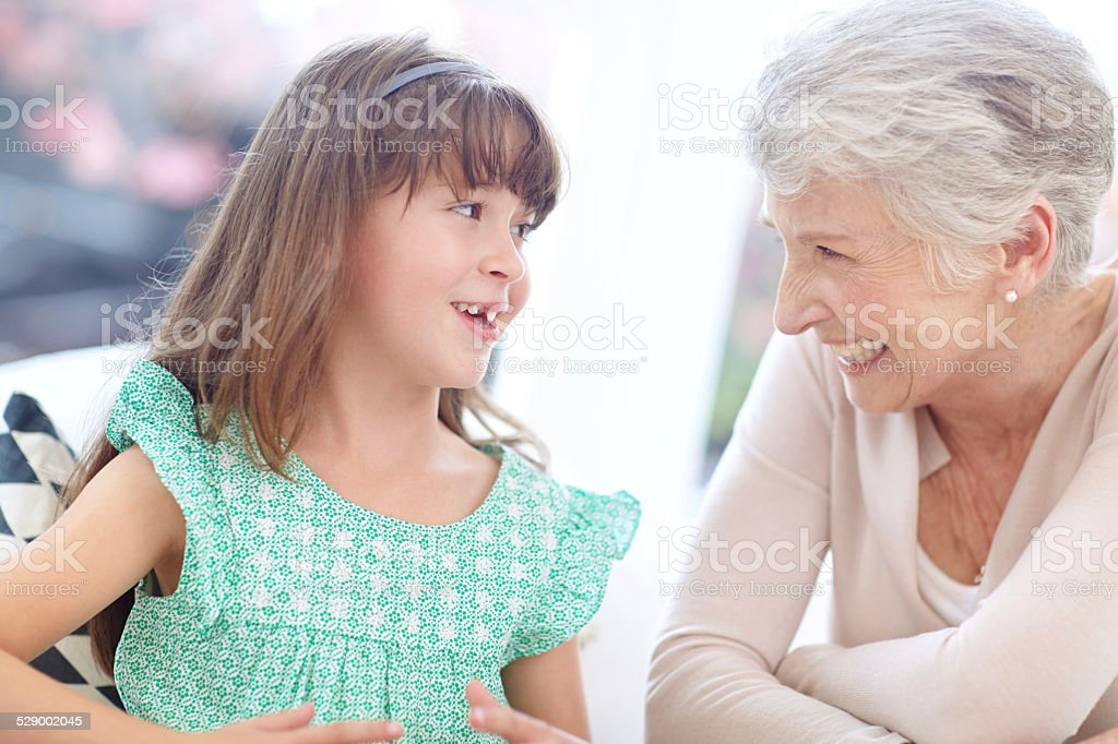 When in doubt always ask grandma stock photo