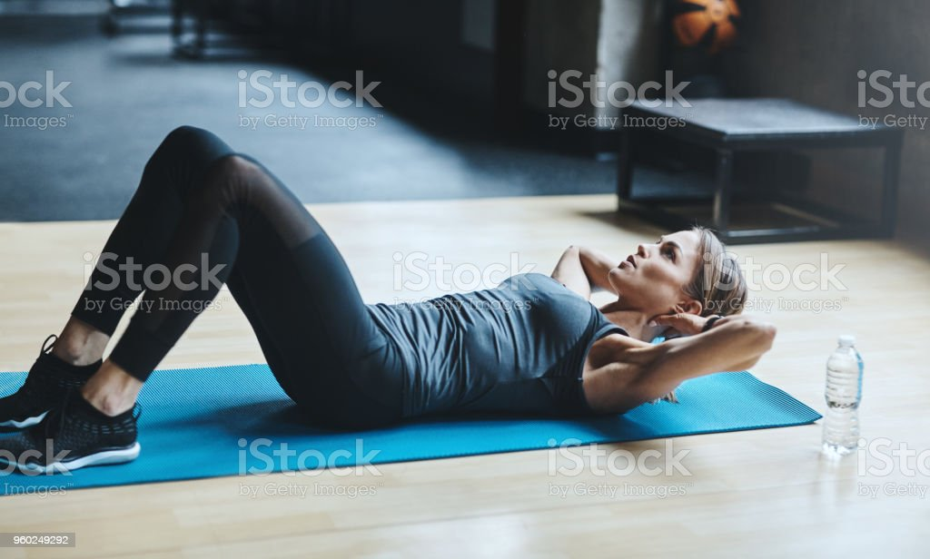 When in doubt crunch it out stock photo